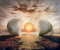 okyanus yağlı boya toptan satış-VLADIMIR KUSH - Tuval Wall Art Canvas Pictures 191.102 tarihinde OKYANUS Ev Dekorasyonu Handpainted HD Baskı Petrol Resim TARAFINDAN SUNRISE