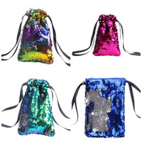 Wholesale gym bag online - Sequins Card Handbag Female Male Fitness Wrap Party Gift Bag Elastic Band x13cm Popular More Color Bardian js C1