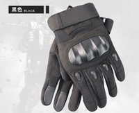 Wholesale fingerless combat gloves resale online - 2019 New Tactical Gloves Army Paintball Airsoft Outdoor Combat Anti Skid Fingerless Fighting Carbon Knuckle Half Finger Cycling Gloves