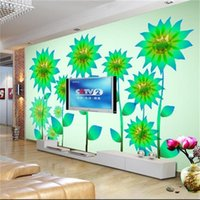 Wholesale sunflower stickers for wall for sale - Group buy custom size d photo wallpaper living room mural kids room angel sunflower d picture sofa TV backdrop wallpaper non woven wall sticker