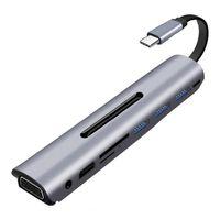 адаптер для нескольких телефонов оптовых-9 в 1 тип C для Multi USB 3.0 4K HDMI VGA PD адаптер док-станция для MacBook Samsung Xiaomi ноутбук телефон