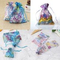sırf organza çanta lehine toptan satış-Organze İpli Çanta Organze Takı Şeker Ambalaj Torbalar Parti Şeker Düğün Favor Hediye Çanta Tasarımı Yaldızlı Desen