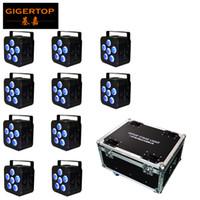 Wholesale par lights for sale - 10IN1 Charging Flightcase Pack Battery Powered Wireless DMX512 LED Par Light x18w tyanshine Freedom Slim