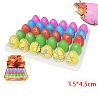 oyuncaklar toptan satış-30 Adet / grup Sevimli Sihirli Kuluçka Büyüyen Dinozor Yumurta Büyüyen Su Ekleyin Dinozor Yenilik Gag Oyuncaklar Çocukla ...