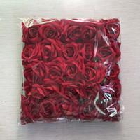 casamento de rosas vermelhas casamento favor venda por atacado-Wedding Party Favor Artificial Flores Cerimônia Eventos Banquete Decoração sete centímetros multi Tamanho flanela Rose Red Heads 100pcs / lot