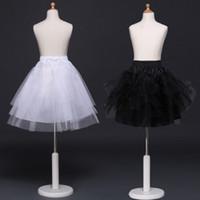cosplay için sıcak elbiseler toptan satış-Sıcak satış kızlar tutu etek petticoats prenses hizmetçi cosplay çocuk tül kabarık etek ucuz beyaz siyah çocuklar kısa elbise için pettiskirt