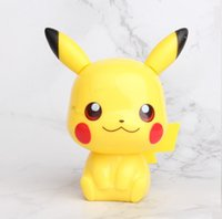 ingrosso accessori per figure d'azione-4 Styles Pikachu Cake Decoration Bambola a mano Micro Landscape Model Accessori auto Bambini Pikachu Action Figures L097