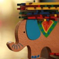 yığın oyunu toptan satış-Renk sopa denge aleti çocuk bulmaca oyunu ebeveyn-çocuk interaktif oyuncak ahşap fil deve yığını yüksek denge ahşap oyuncak