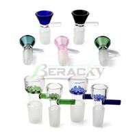 piezas de tubos al por mayor-Venta al por mayor Funnel Snowflake 14mm 18mm Male Glass Bowls Smoking Bowl Piece Accesorios para vidrio de tabaco Bongs Oil Dab Rigs Tubos de agua