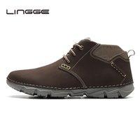 zapatos de cuero marrón para hombres al por mayor-Botas Lingge Brown hombres de cuero, zapatos del diseño del resorte Chukka Botas para hombres, moda hecha a mano de los cargadores del tobillo # 5327-10