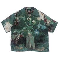 hombres con cuello en v tees al por mayor-19SS NO UTILIZADO Camiseta del Museo Van Gogh Moda Estilo de arte retro Parejas de manga corta de alta calidad Mujeres Camiseta de diseñador para hombre HFKYTX016