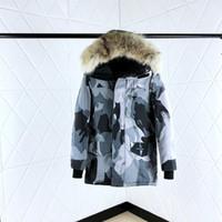 меховая куртка роскошь вниз женщин оптовых-Международный большой 2019 женский дизайнер меховой воротник зима толстый белый гусиный пух теплая дикая куртка роскошные мужские и женские модные пальто