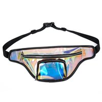 Wholesale waist packs for sale - Women Laser Shiny Waist Bag Holographic Fanny Pack Unisex outdoor travel colorful types pack Transparent Bum Travel Beach Bag QQA361