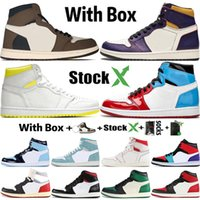 Wholesale size orange basketball shoes for sale - Group buy 2020 With Box Stock X s Mens Basketball Shoes Obsidian UNC Fearless Travis Scotts Turbo Green Sports Trainer Designer Sneakers Size