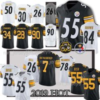 Wholesale steeler jerseys resale online - TOP Pittsburgh Steeler Jersey Juju Smith Schuster James Conner T J Watt Ben Roethlisberger Alejandro Villanueva Jerseys Cheap