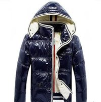 Wholesale shiny hats resale online - 2019 Winter Men Outdoor Maya Shiny Matte Down Jacket Mens Casual Hooded Down Coats Outerwear Man warm jackets Parkas S XL