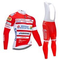 italien kleidung großhandel-2019 Italia Radtrikot 9D Bib Set MTB Uniform Red Fahrrad-Kleidung Quick-Dry-Fahrrad-Kleidung der Männer lange einen.Kreislauf.durchmachenWear
