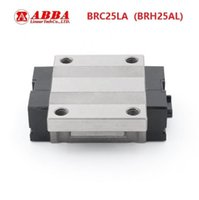máquinas lineales al por mayor-10 unids / lote Original Taiwán ABBA BRC25LA / BRH25AL Linear Flange Block Carriage Linear Rail Guide Bearing para CNC Router Laser Machine