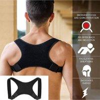 ingrosso cinture di supporto per il dolore alla schiena-Spalla del correttore di posizione posteriore della cinghia di sostegno benda parte posteriore del corsetto ortopedico della colonna vertebrale del correttore di posizione benessere Back Pain Relief