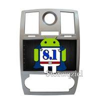 radio chrysler dvd al por mayor-Android 8.1 Reproductor de DVD del coche para Chrysler 300C 2000-2014 radio de coche RDS GPS mapa de navegación Bluetooth