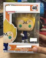 ejderha topu z rakamlar kutusu toptan satış-Funko Pop Dragon Ball Z Majin Vegeta Kutusu ile Vinil Action Figure # 445 Oyuncak Hediye Kaliteli