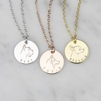 2b6b108b4e81bb Wholesale personalized name necklace for sale - Group buy Dog Portrait Pendant  Custom Name Necklace Women
