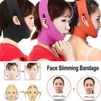 máscara sexy personalizada al por mayor-Reducir la barbilla doble cara V talladora de la correa de lifting facial mediante la forma del vendaje de la correa de la máscara facial de las mujeres que adelgaza