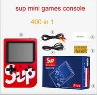 videolar 2gb toptan satış-400 in 1 SUP Mini El Oyun Konsolu Retro Taşınabilir Video Oyun Konsolu 400 Oyunları Mağaza Olabilir 8 Bit 3.0 inç LCD Cradle Tasarım