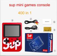 mini-wiege großhandel-400 in 1 SUP Mini-Handheld-Spielekonsole Retro tragbare Videospielkonsole kann 400 Spiele 8-Bit-3,0-Zoll-LCD-Cradle-Design Fc-Spiele speichern