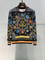coole sweatshirt-designs großhandel-Wholesale-3D Mall Herbst Paris Top Design bunte Federn Blätter goldene Ketten Medusa Cool Herren Slim Pattern Sweatshirt Hoodies
