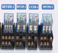 ingrosso relè a bassa potenza-5 Set MY4N-J MY2N-J LY2N-J OMRON Nuova bobina bobina Relè a bassa potenza per usi generali con base 220VAC 24VAC
