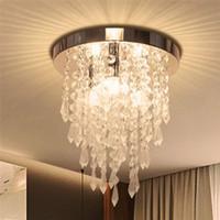 luces de techo montadas al ras led al por mayor-Crystal iluminación de la lámpara moderna 3 luces luz rasante del montaje del techo del accesorio para Dormitorio Pasillo Sala de estar Cocina Comedor