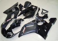 yamaha yzf r6 gewohnheit großhandel-3 Gratis Geschenke Neue ABS-Motorradverkleidungen passen für YAMAHA YZF R6 1998 1999 2000 2001 2002 YZF R6 98 99 00 01 02 Karosserieverkleidung schwarz