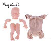 muñecas de tacto suave al por mayor-22 pulgadas de Real Touch Soft Kits de Renacimiento de Silicona Sleep Baby Doll Cabeza en Blanco Limbo Molde Tela Cuerpo DIY Fabricación de accesorios