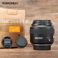 câmera de telefoto freeshipping venda por atacado-Freeshipping yn85mm f1.8 lente da câmera focal fixo af / mf padrão médio telefoto prime lente para canon ef mount eos câmeras