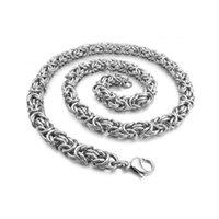 yüksek kaliteli titanyum zincir toptan satış-Yüksek kaliteli salma zinciri erkek hip hop kolye moda olmayan solma için titanium çelik şerit rengi hediye