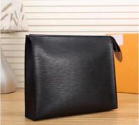 Wholesale 2020 Top quality cosmetic bag women big travel organizer storage wash bag leather make up bag men purse Cosmetic case