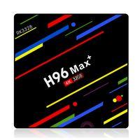 программное обеспечение для тв оптовых-Оригинальный H96 Max плюс Android 9.0 TV Box 4GB 32GB RK3328 4k 2.4G 5G WiFi BT4.0 Media Player