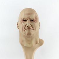 новые парики для кожи оптовых-Новый Искусственный Человек латексные маски Hood Накладные париков Human Face Skin Маскировка розыгрыши Хэллоуин костюм Реалистичная силикон