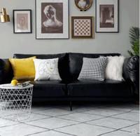 kissenbezug minimalistisch großhandel-Gelber Kissenbezug Nordic Modern Minimalist Sofakissenbezug Velvet Velvet Kissenbezug