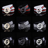 Wholesale belt for sale - G Letter Personality Cowskin Belt Casual Unisex Smooth Diamond Buckle Leather Belts Fashion G Print Waistband TTA880