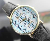 Wholesale geneva fashion watches online - Geneva simple design quartz Lady wristwatches Retro Women wrist bracelet watch belt fashion decoration watchfreeshipping