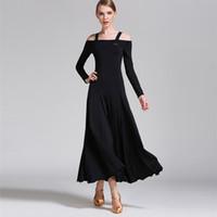 бальные танцы оптовых-Ballroom Dance Dress Elegant Long Sleeve Stage Dancing Wear Women's Cheap Ballroom Flamenco Competition Dresses