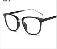 Wholesale korean spectacles frame for sale - Group buy Korean version of ultra light retro spectacle frame for men and women trend myopic spectacles frame flat glasses