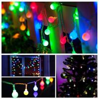 yılbaşı topu çelenk toptan satış-Yeni 1.5 M 10LED Peri Garland LED Topu Dize Işıklar Noel Ağacı Düğün Ev Kapalı Dekorasyon Için Su Geçirmez Akülü