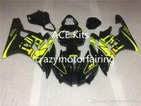juegos de carenado r6 al por mayor-3 regalos gratis Nuevos kits de carenado ABS de inyección 100% Adecuado para YAMAHA YZF-R6 06-07 YZF600 2006 2007 R6 conjunto de carrocería Amarillo Negro E5