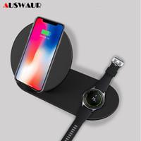samsung s3 cargador inalámbrico al por mayor-Qi cargador inalámbrico soporte para Iphone X Xs Samsung Gear S2 S3 S4 Nota 8 9 Galaxy S8 S9 S9 Plus Reloj rápido cargador inalámbrico J190427