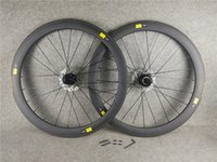 mavi karbonlu yol bisiklet tekerlekleri toptan satış-700c 3 K Gri-Mavi logo Mavic kozmik 50mm disk karbon yol bisikleti jantlar ile 23 / 25mm genişlik Siyah RUBAR Tayvan disk gö ...