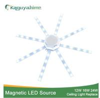krake deckenleuchte großhandel-Magnetische modifizierte Quelle LED Deckenleuchte Octopus Light Tube 12W 16W 20W 24W LED Light Board 220V Energiesparlampe