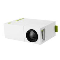 projeções de video venda por atacado-YG310 Mini Projetor de Alta Resolução 1080 P LCD LED Projeção 400-600Luz AV Audio Home Theater Projetor de Cinema de Cinema Em Casa